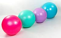 Мяч для фитнеса (фитбол) гладкий глянцевый 75см ZEL FI-1981-75 (PVC,1000г, ABS техн., цв. в асс.)