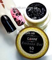 Гель-паста 3D Embossing gel №10 черная