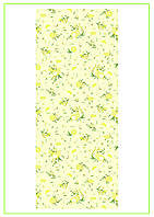 Вафельное  полотно Лимончик+оливка желтый