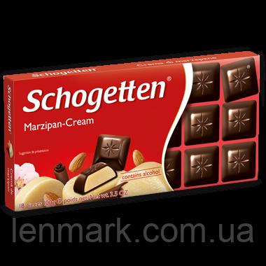 Черный шоколад Schogetten  «Marzipan Cream» (с Марципановым кремом) 100г.