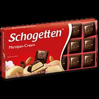 Черный шоколад Schogetten  «Marzipan Cream» (с Марципановым кремом) 100г. , фото 1