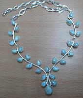 """Шикарное серебряное колье с ларимарами  """"Цветок жизни"""" от студии LadyStyle.biz"""