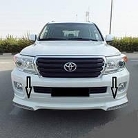 Накладка переднего бампера для Toyota Land Cruiser 200 12+