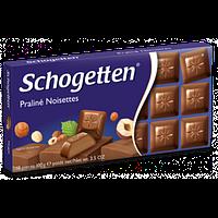 Молочный шоколад Schogetten  «Praline Noisettes» (с ореховым пралине) 100 г, фото 1
