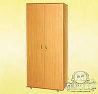 Шкаф для одежды двухдверный с овальной штангой