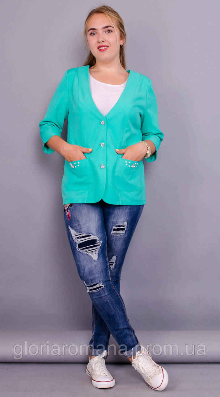 Карина. Стильный пиджак женский. Мята. - Gloria Romana - женская и мужская одежда оптом от производителя в Харькове