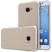 Чохол Nillkin для Samsung Galaxy C5 золотистий (+плівка), фото 1