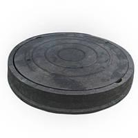 """Люк """"Garden"""" полимерпесчаный чёрный ( 4,5т) р.540/750"""