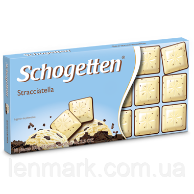 Молочно-белый шоколад Schogetten «Stracciatella» (с пломбиром) 100 г.