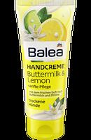 Увлажняющий крем для рук с оливковым маслом и лимоном Balea Handcremе Buttermilk Lemon 100 мл