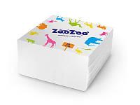 ZooZoo салфетки 60шт 24*23 белые 1 слой П