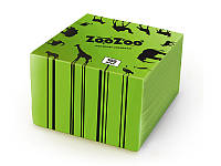 ZooZoo салфетки 100шт 24*23зеленые 1слой