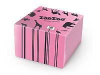 ZooZoo салфетки 100шт 24*23 розовые 1слой
