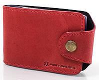 Визитница женская кожаная Dnk Leather красная