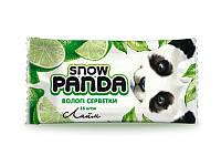 Снежная панда влажные салфетки для рук 15шт Лайм