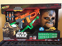 Бластер Star Wars Episode VII Chewbacca NERF Bowcaster with 15 Darts & Electronic Mask