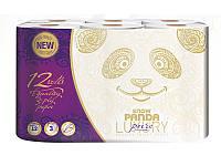 Снежная панда LUXURY туалетная бумага 12 шт Пьюр