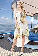 Стильное, легкое шифоновое платье идеально подойдет для пляжа 42-548 размеры