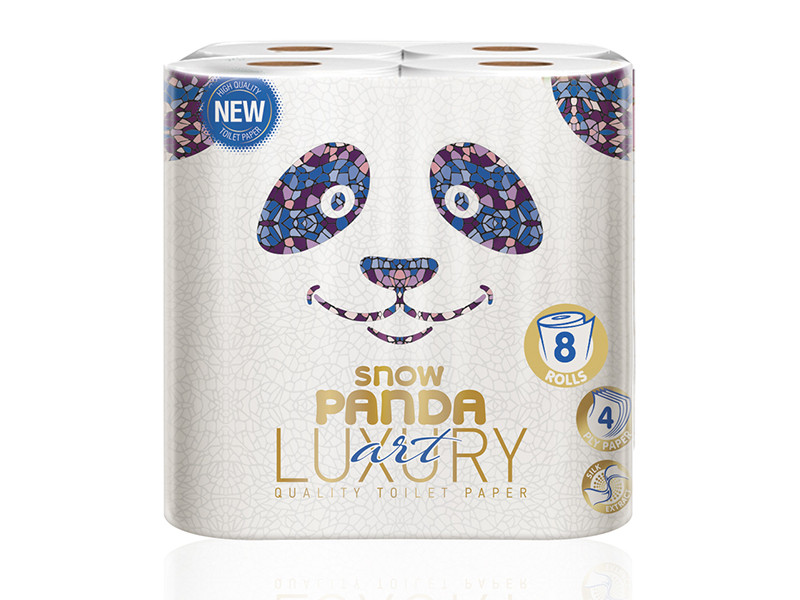 Снежная панда LUXURYтуалетная бумага 8шт Арт