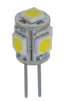 Лампа Lemanso св-ая G4 5LED 1W 4500К 5050SMD 12V/ LM244 (LM208)