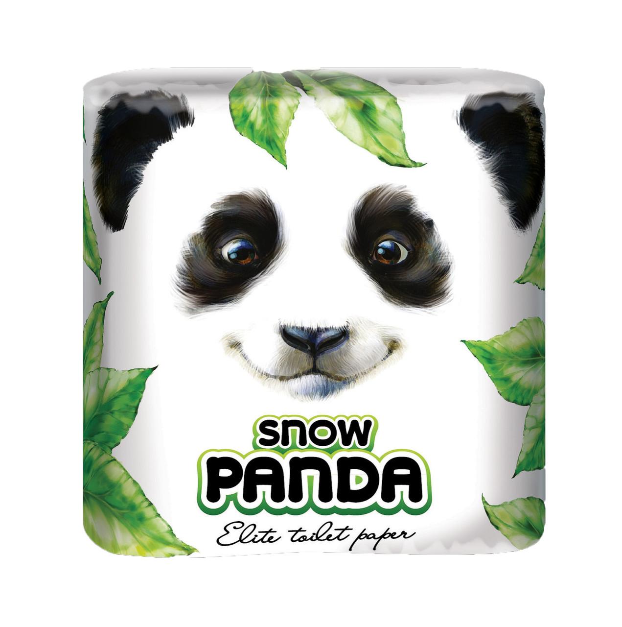 Снежная панда туалетная бумага  4шт Елит