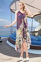 Стильное, легкое шифоновое платье идеально подойдет для пляжа 42-548 размеры, фото 1