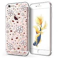 Чехол силиконовый для iPhone 6 Plus с камнями swarovski №1