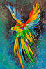 «Попугай в полете» картина маслом
