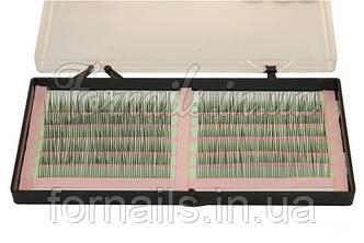 Ресницы Yre одинарные на зеленой ленте (0.15-12 мм)