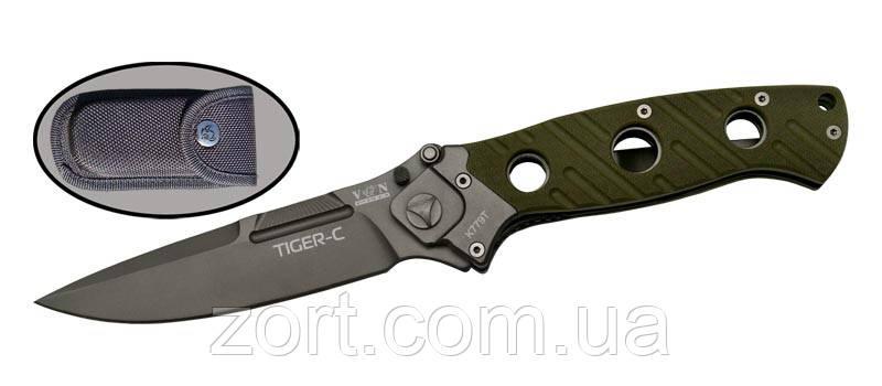 Нож складной, механический Tiger-c
