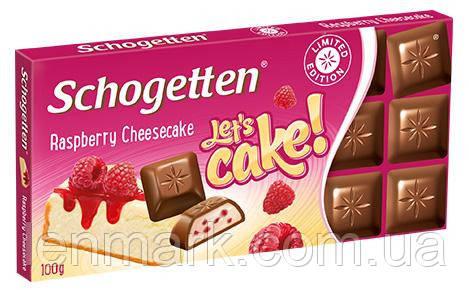 Молочный шоколад Schogetten  «Raspberry Cheescake» (со вкусом малинового чизкейка) 100 г