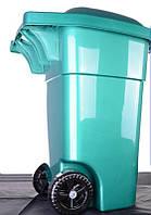 Контейнер для мусора Зелёный 60л (на колесах с крышкой)
