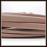 Шнур кожаный 10*5 мм, цвет капучино