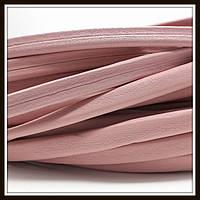 Шнур кожаный 10*5 мм, цвет розовый