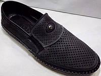 Мокасины мужские Luciano Bellini 15600L1FNSD летние серые/черные