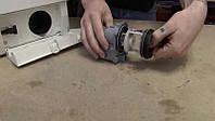 Устранение засора сливного насоса, патрубков, извлечение посторонних предметов без разборки стиральной машины