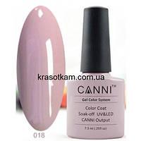 Гель-лак Canni 018 бледно-пурпурный