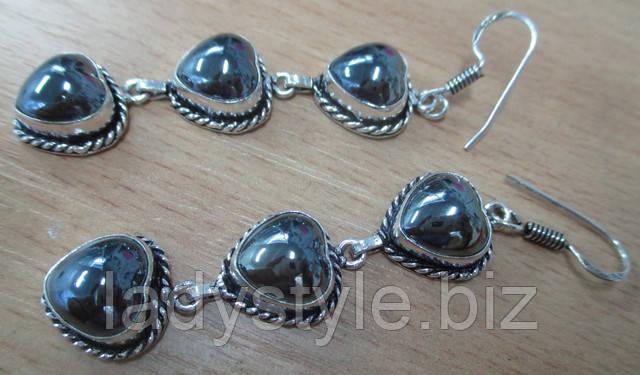 украшения с натуральными аметистами купить серьги серебро
