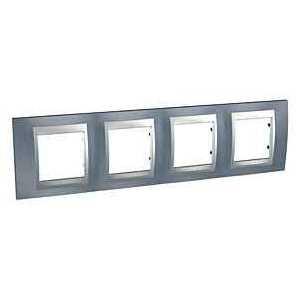 Рамка 4 пост. Unica Top металлик/алюминий MGU66.008.097