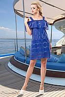 Стильный, укороченный летний сарафан из батиста с открытыми плечами 42-52 размеры, фото 1