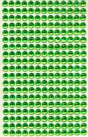 Стразы круглые зелные