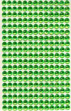 Стрази круглі зелные (10 шт)
