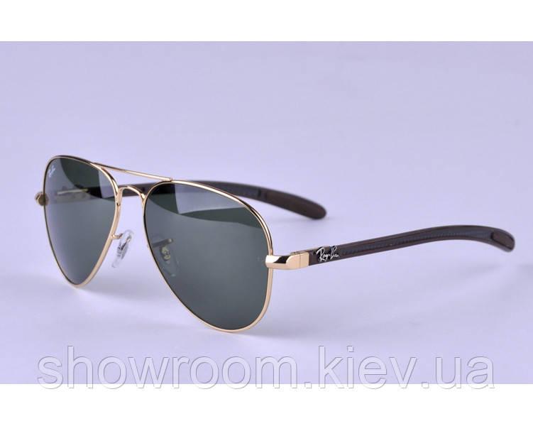 Мужские солнцезащитные очки в стиле RAY BAN aviator 8307-001 carbon LUX
