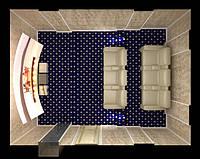 Визуализация интерьера домошнего кинозала