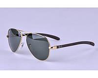 Солнцезащитные очки RAY BAN aviator 8307-001 carbon LUX