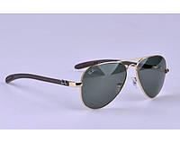 Женские солнцезащитные очки в стиле RAY BAN aviator 8307-001 carbon LUX, фото 1