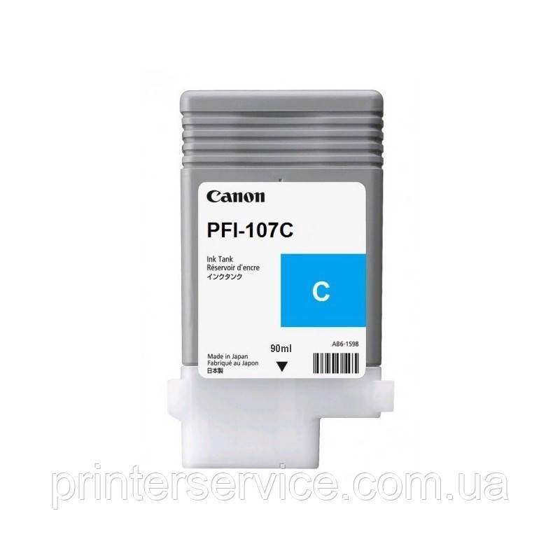 Чернильница PFI-107 Cyan для iPF670/ 680/ 685/ 770/ 780/ 785, голубой, 90 мл (6706B002)
