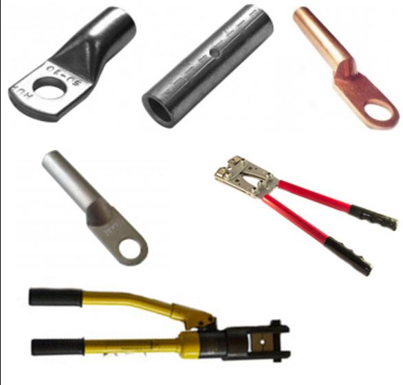 Инструмент для опрессовки силовых наконечников и гильз