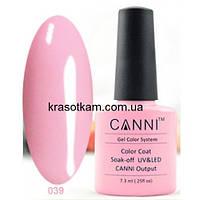 Гель-лак Canni 039 бледно-розовый