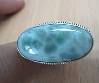"""Яркий перстень с ларимаром """"Пенный"""", размер 18.2 от студии  LadyStyle.Biz"""